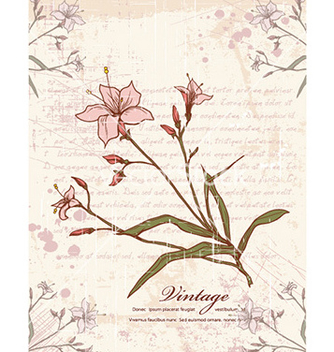 Free floral with grunge vector - Free vector #225491