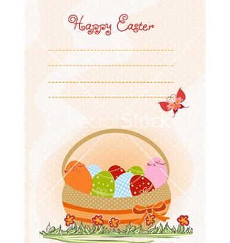 Free basket of eggs vector - vector #225581 gratis
