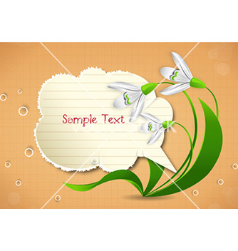 Free spring frame with floral vector - Free vector #225761