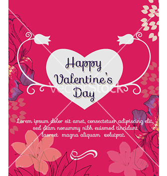 Free happy valentines day vector - Free vector #226991