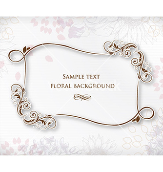 Free floral frame vector - Kostenloses vector #227281