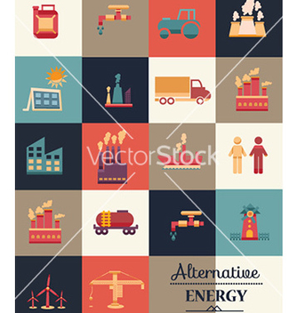 Free with industrial icons vector - Free vector #227471