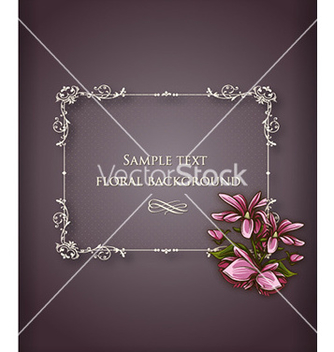 Free floral frame vector - Kostenloses vector #227591