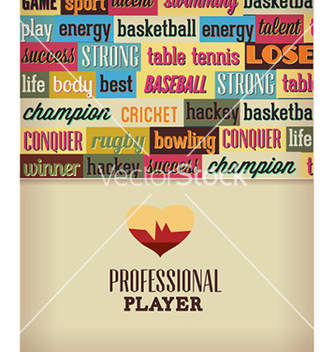 Free with sport typography vector - vector #227671 gratis