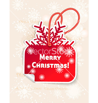 Free christmas with sticker and snow man vector - vector gratuit #227721