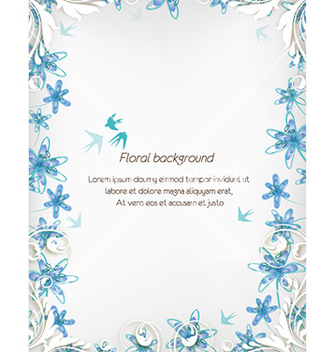 Free floral background vector - Free vector #227781