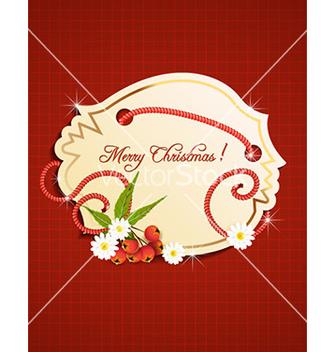 Free christmas sticker vector - Kostenloses vector #228661