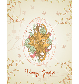 Free egg with floral vector - Free vector #228911