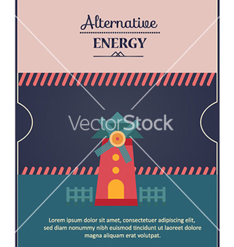 Free with windmill vector - vector #228951 gratis