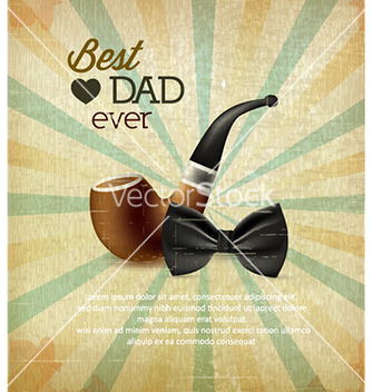 Free fathers day vector - Free vector #229331