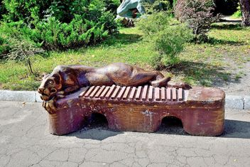Sculptural bench - image gratuit #229401
