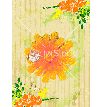 Free bird with colorful floral vector - Free vector #229641