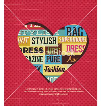 Free with typography elements and heart shape vector - Kostenloses vector #229681