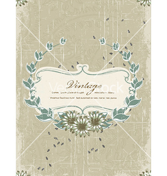 Free floral with grunge vector - Free vector #229741
