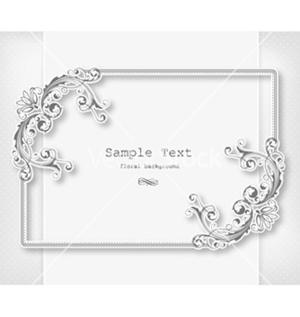 Free floral frame vector - Free vector #230191