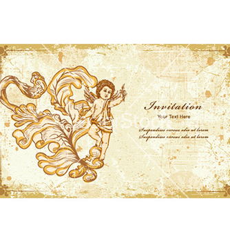 Free angel with floral vector - Free vector #230211