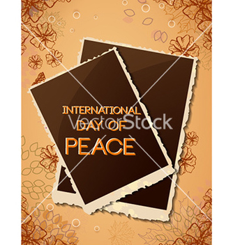 Free international day of peace with photo frame vector - Free vector #230321
