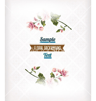 Free floral background vector - Free vector #230351