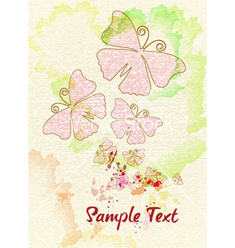 Free butterflies with grunge vector - Free vector #230431