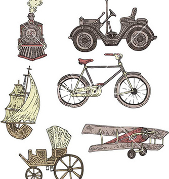Free vintage transportation vector - Free vector #230551