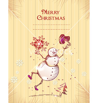 Free christmas with snow man vector - vector gratuit #230771