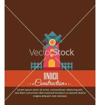 Free with windmill vector - vector #230921 gratis