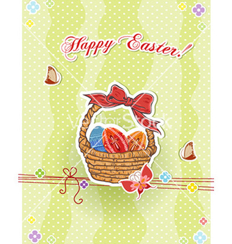 Free basket of eggs vector - vector gratuit #232411