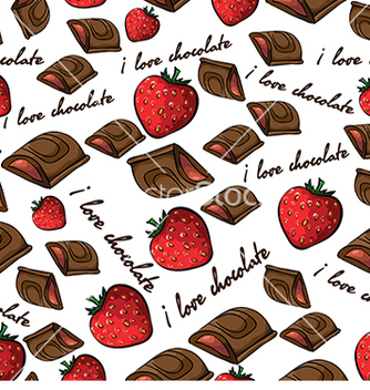Free pattern with chocolate and strawberry vector - vector gratuit #233021
