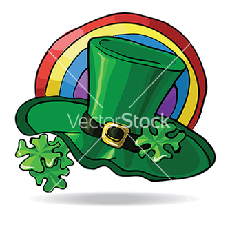 Free green st patricks day hat with clover vector - Free vector #233051