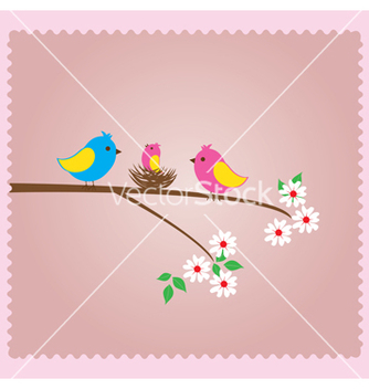 Free bird family vector - vector gratuit #233131