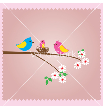 Free bird family vector - Free vector #233131
