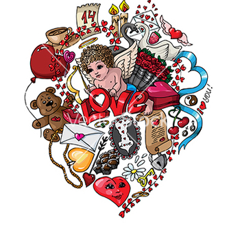 Free doodle love vector - Kostenloses vector #233161