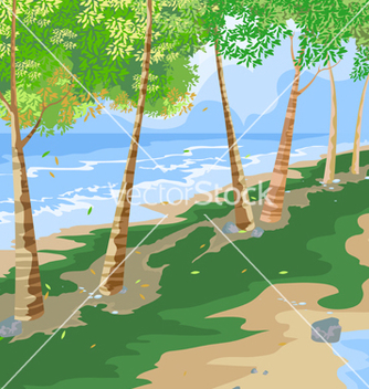 Free beach side vector - Free vector #233221