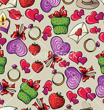 Free pattern with hearts and ring vector - Free vector #233261