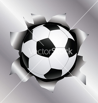 Free soccer thru metal sheet vector - Free vector #233411
