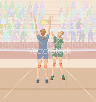 Free volleyballplayer vector - Free vector #233501