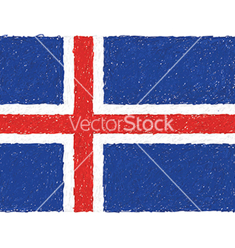 Free hand drawn of flag of iceland vector - бесплатный vector #233551