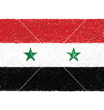 Free hand drawn of flag of syria vector - Free vector #233651