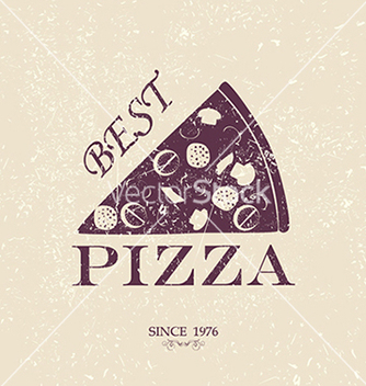 Free best pizza vintage label stamp banner design vector - Kostenloses vector #233671