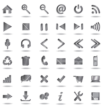 Free web icons vector - Free vector #233871