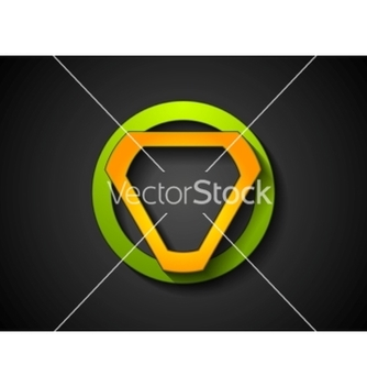 Free abstract green orange geometric logo design vector - Free vector #233991