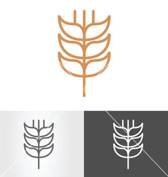 Free ear of wheat vector - vector #234051 gratis
