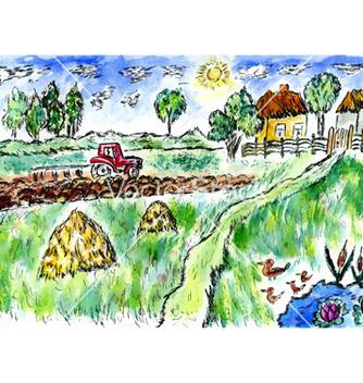 Free rural landscape04 vector - бесплатный vector #234121