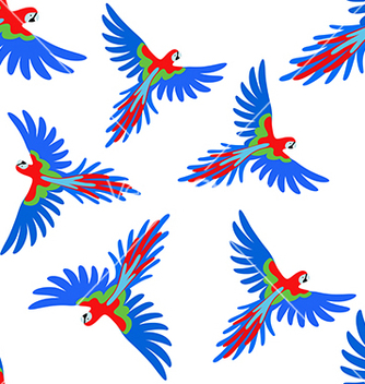 Free macaw parrot seamless pattern vector - Kostenloses vector #234251