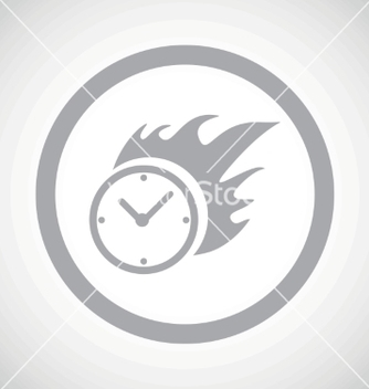 Free grey burning clock sign icon vector - Free vector #234291