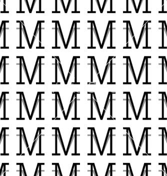 Free pattern letter m vector - vector #234381 gratis