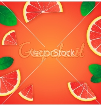Free fruity grapefruit background vector - vector gratuit #234471