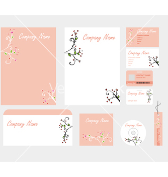 Free corporate style in pink with patterns vector - бесплатный vector #234521