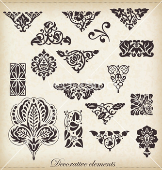 Free set calligraphic design elements vector - Free vector #234841