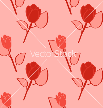 Free seamless pattern with flowers background with vector - Free vector #235011